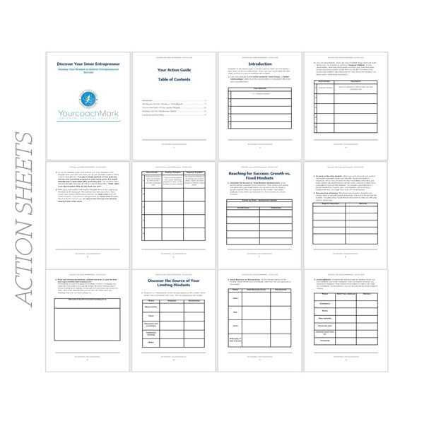 Discover your inner entrepreneur - Action sheets